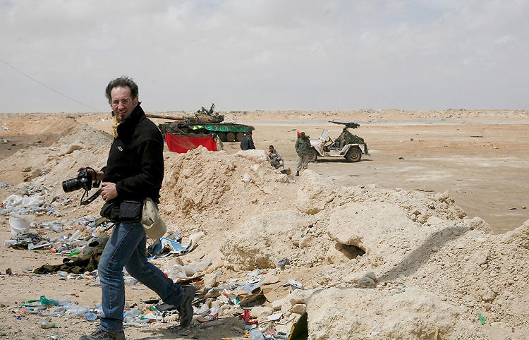 <p>Anton Hammerl in Libya four days before he was shot and killed.</p>