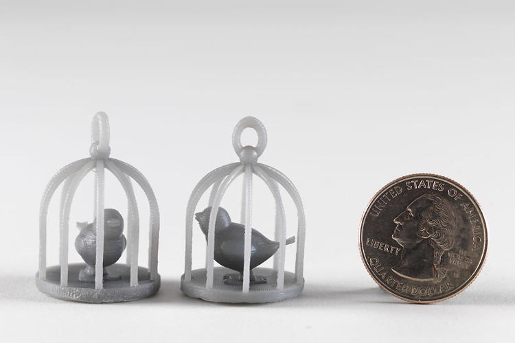 <p>The resin required by the stereolithographic technique is more expensive than the simple plastic used in extrusion-based machines, but Formlabs is promising customers at least 1 liter per month at $129.</p>