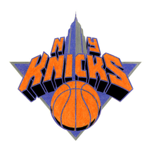 <p>This was Doret's vision for the New York Knicks logo, when the NBA approached him in the early '90s to create a redesign. The NBA rejected it.</p>