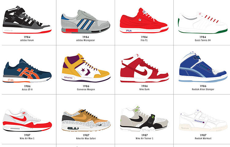 <p>The '80s apparently brought a lot of color experimentation (and, of course, a lot of high tops, too).</p>
