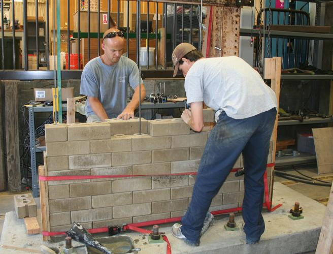 <p>Earth2Block--a kind of interlocking compressed earth block--is cheap, environmentally friendly, easy to manufacture locally, and seismically safe. The California Polytechnic State University, San Luis Obispo team behind Earth2Block is working with a Thai NGO to promote construction with the compressed earth block in the area.</p>