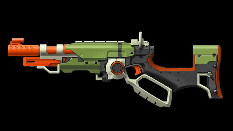 <p>The earliest renders of the Slingfire looked more like military weapons than zombie blasters.</p>