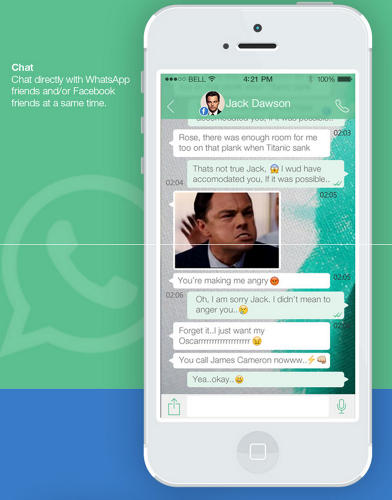 <p>This mockup, from Vinfotech, an Indian design firm, imagines the aesthetic future of WhatsApp.</p>