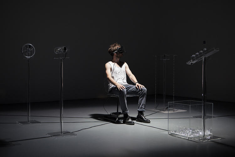 <p>You're sitting in a dark room. It's not so scary. It's just a video<br /> game, playing out on an Oculus Rift virtual reality headset. But then,<br /> you hear a chain dragging across the floor--a real chain--ever so<br /> slowly. OccultUS, by ECAL designer Simon de Diesbach, surrounds a<br /> person in virtual reality with real objects making real noises, to<br /> create a hyper-immersive, fictional world that scares the hell out of<br /> them. <a href=&quot;http://www.fastcodesign.com/3036638/a-dark-ride-that-scares-you-out-of-the-oculus-rifts-uncanny-valley&quot; target=&quot;_self&quot;><strong>Link.</strong></a></p>