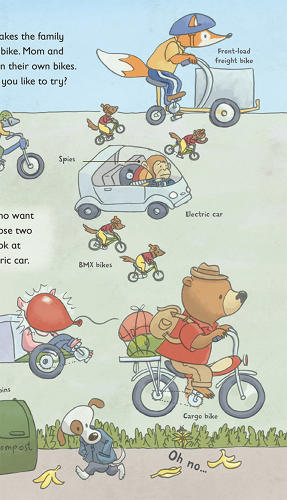 <p>A.B. Thorpe was inspired to publish <em>Bicycles, Airships, and Things That Go</em> by the books her children loved, such as those by Richard Scarry.</p>