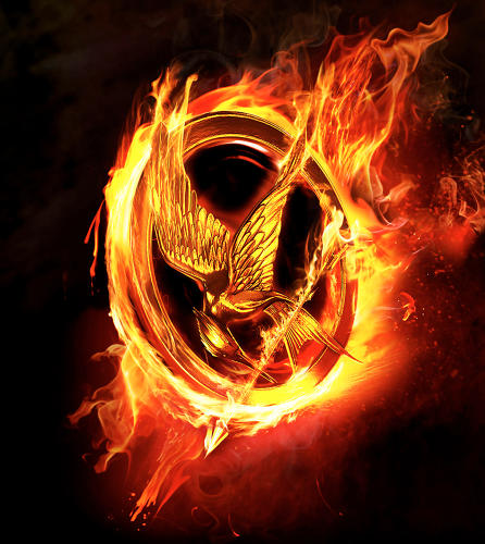 <p>The marketing games kick off with images of the Mockingjay pin.</p>