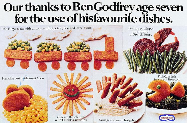 <p>Godfrey's 1974 ad for Birds Eye.</p>