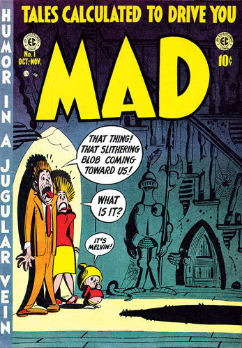 <p>October/November 1952 – <em>Mad</em> premieres and the decline of Western civilization is officially underway. The first 23 issues of <em>Mad</em> were comics that spoofed other comics.</p>