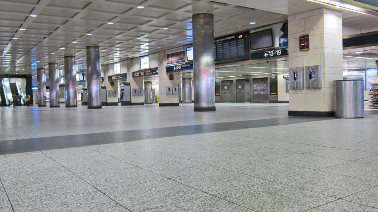 <p>Penn Station before the storm.</p>
