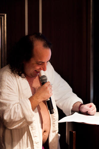 <p>Har Mar Superstar, who was spotted sporting his waffle-robe and swim trunks during the entire cruise, hosted the ship's tell-all event, Dear Diary.</p>