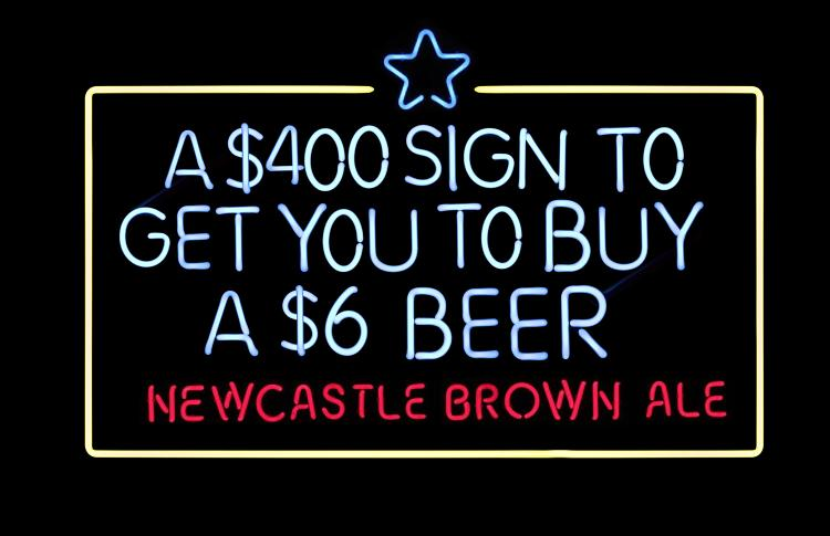 <p>&quot;This is probably the most transparent neon sign ever made,&quot; says Newcastle Brown Ale Brand Director Charles van Es…</p>