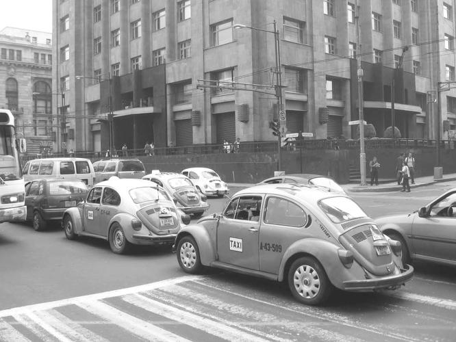 <p>In Mexico, the VW became the ubiquitous <em>vochito</em> from the '70s through the '90s. Beetle taxis could still be seen on every street corner in Mexico City in 2008.</p>