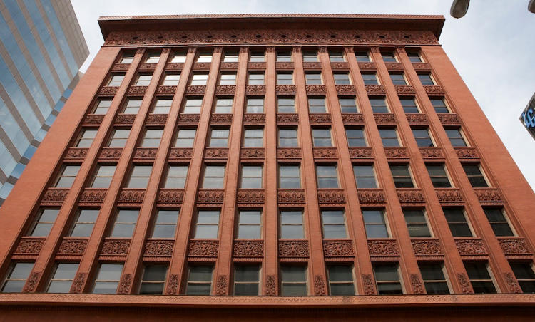 "<p>Louis Sullivan's Wainwright Building was not the first skyscraper, but it gave the modern, steel-frame skyscraper its form. Historian Tim Samuelson said it ""taught the skyscraper to soar.""</p>"