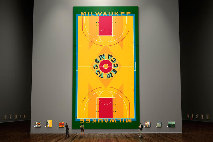 "<p>""Even as a kid, I remember it was a strange-looking floor and kind of unique, and nothing else looked like that on TV from other cities,&quot; he says. &quot;We had the coolest basketball floor in the league, painted by an extremely famous artist. And it didn't happen in New York or L.A. It happened here.""</p>"