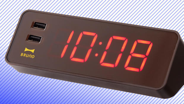 An All In One Digital Clock And IPhone Charger