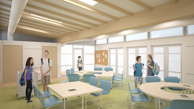 Classroom Design Companies : An eco modular classroom that helps kids learn co sign