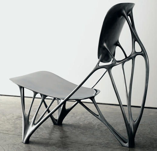 <p>Generally, collectors are wary of young designers. That includes Freedman. Thanks to CNC tech and rapid prototyping, they &quot;have the technological capability to create work that was unimaginable a decade ago,&quot; he says. &quot;However, technological advances do not translate into artistic achievement.&quot; One exception he cites is Holland-based Laarman, who created the Bone Chair, shown here, using software based on the principle of bone growth.</p>