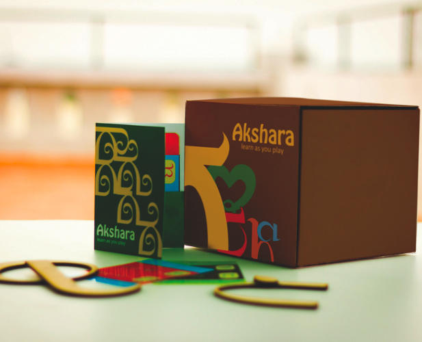 <p>Sayantani Dasgupta and Meghma Mitra, students at the Srishti School of Art, Design and Technology, in Bangalore, created a jigsaw puzzle for Indian students to learn the alphabet.</p>