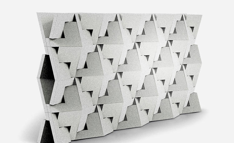 Wall Structure Design Images : Dror s folding concrete block could change how we build