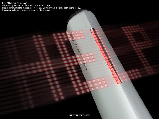 <p>…and added a strip of LED lights that could turn the flashlight into a banner, when waved around.</p>