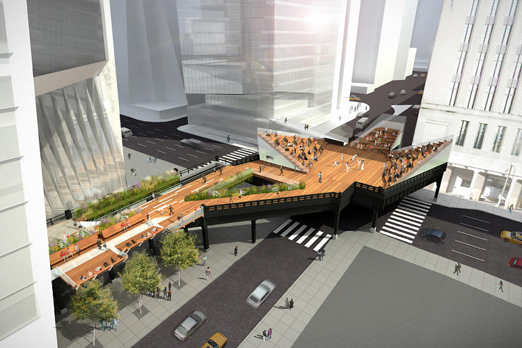 <p>The designers haven't decided what to do with this wide platform--the widest stretch of the entire park--which was once used to transport mail. It might be converted into an amphitheater…</p>