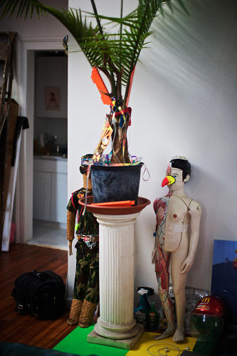 <p>Cyril Duval, a.k.a. Item Idem, says that his favorite aspect of his studio is that &quot;it's everything but a workspace--and that I work really well from here.&quot;</p>