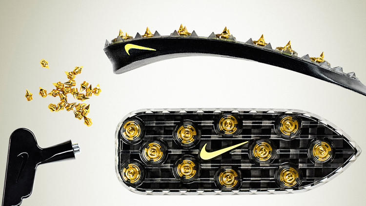 <p>… and these <a href=&quot;http://www.fastcodesign.com/1670487/how-nike-made-track-spikes-for-oscar-pistorius-s-carbon-fiber-blades&quot; target=&quot;_self&quot;>track spikes for the carbon-fiber blades of amputee sprinter Oscar Pistorius</a>.</p>