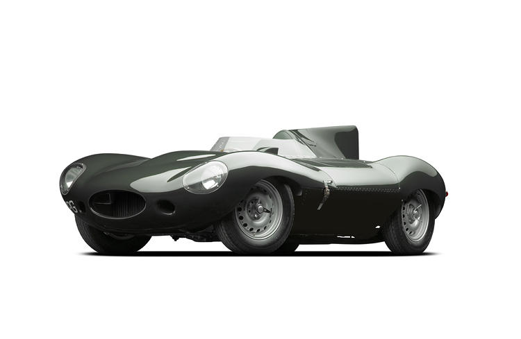 <p>The Jag D-Type's fearsome shark-fin tail helped catapult the car to victory three times at Le Mans, in 1955, 1956, and 1957. The fin stabilized the car, providing greater stability at high speeds. Just 10 of the models, including Lauren's, exhibited a long nose, which added nearly 10 mph to the car's top speed for a total of 161.5 mph.</p>