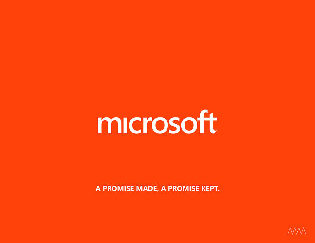 <p>Kim sees his proposal as a way to make good on the company's history as an innovator. &quot;Microsoft: A promise made, a promise kept.&quot;</p>