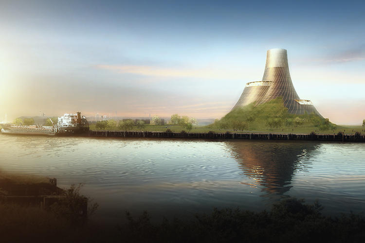 <p>Heatherwick's plan for a 49-megawatt, biomass-fueled power station in the UK would involve stashing energy-generation equipment in a single &quot;parabolic hyperboloid form,&quot; leaving 4 hectares of indigenous grasslands.</p>