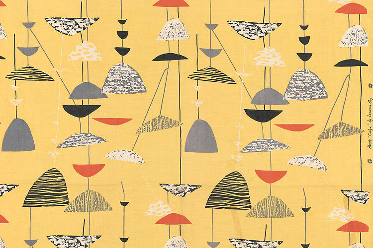 <p>Furnishing fabric by celebrated textile designer Lucienne Day (1951).</p>