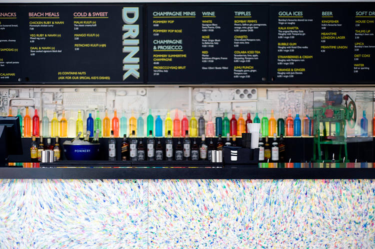 <p>The bar is made from recycled plastic bottles.</p>