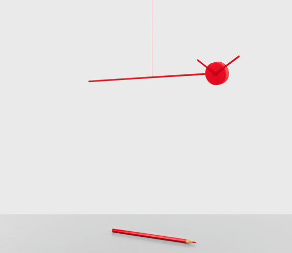 <p>If Alexander Calder had gotten into the time-piece business, he would've made something like what you see here. The clock, by Isaure Bouyssonie, literally suspends time.</p>