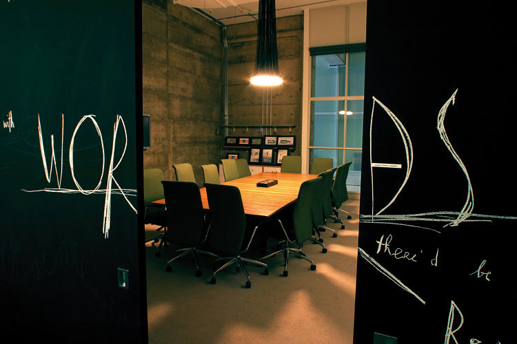 <p>One of the enduring features in Sid Lee's ever-evolving offices is blackboard space, on which employees can doodle when they're bored. The boards are wiped clean once a year.</p>
