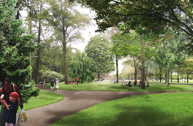 <p>New York-based MVVA plans to include lots of foliage -- but not too much, lest it ruin sight lines to terrorists lurking under the tree canopy.</p>