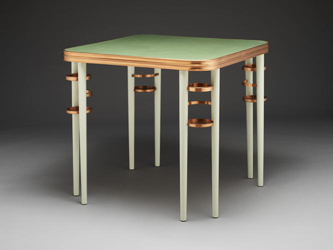 <p>Eugene Schoen card table, 1935-36</p>