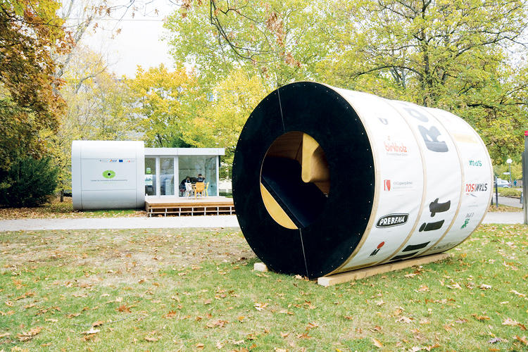 "<p>Designed by students Christian Zwick and Konstantin Jerabek as a competition entry, Roll-It is the ultimate mobile home. Not only does its barrel shape allow it to be easily transported but its interior rotates like a round Rubik's cube. It's broken into three rings: at one end is a sleeping/living area, at the other is a kitchen and bathroom hub, and in between is the ""corridor,"" which can the user can turn by walking up its slope like a hamster wheel. Apart from providing exercise, the middle wheel functions as a dial to rotate either of the outer rings into the desired position.</p>"