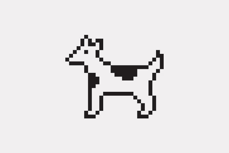 <p>This icon was originally a dog character in the Cairo &quot;hieroglyphic&quot; font that shipped with the original Macintosh. Perhaps because the spots looked a little bovine, it became known as the dogcow, which undoubtedly make the sound &quot;Moof.&quot; A version of this image was used in Mac software for a time to indicate portrait or landscape mode.</p>