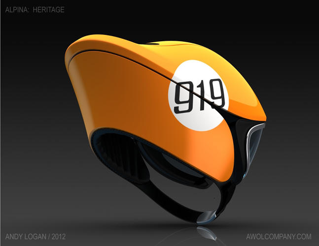 <p>..and also added a dashy graphic that would fit right in with the original 1963 911 upon which the helmet was based.</p>