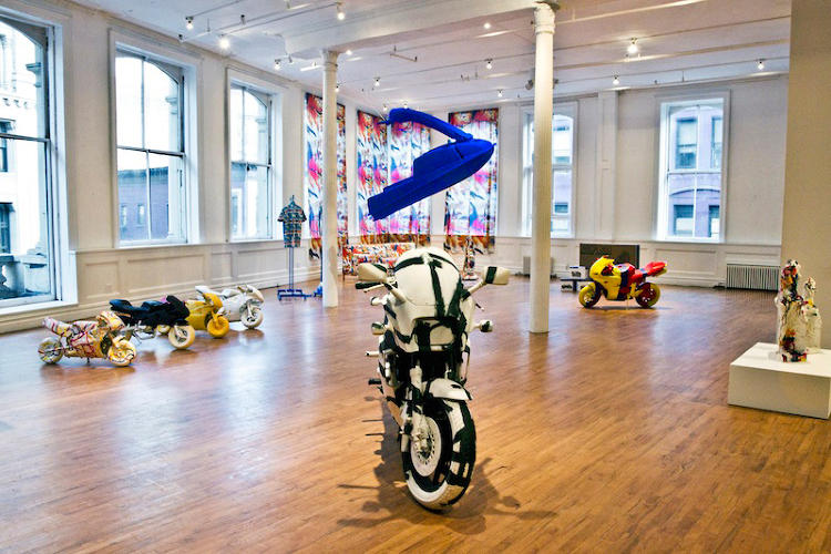 <p>In Canadian artist <a href=&quot;http://jonrafman.com/&quot; target=&quot;_blank&quot;>Jon Rafman</a>'s latest show, <em>Brand New Paint Job</em>, dozens of commercial objects are veneered in Modernism's most famous works.</p>