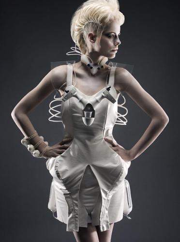 Geekiest chic a cocktail dress that actually dispenses for 2050 fashion predictions