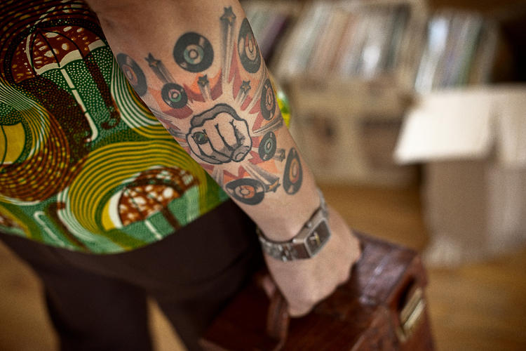 <p>Brooklyn's <a href=&quot;http://www.dustandgrooves.com/frank-gossner-brooklyn-ny/&quot; target=&quot;_blank&quot;>Frank Gossner</a> wears his love for vinyl on his (tattoo) sleeve.</p>