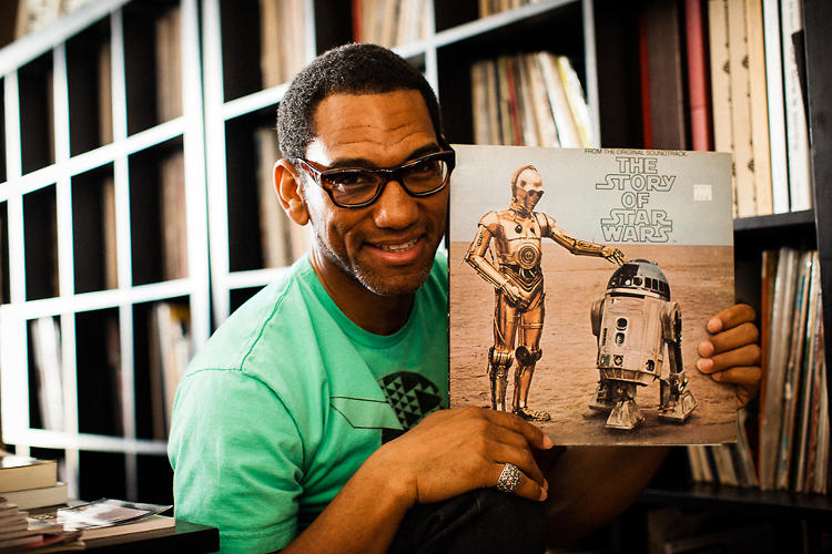 <p><a href=&quot;http://www.dustandgrooves.com/king-britt-philadelphia-pa/&quot; target=&quot;_blank&quot;>King Britt</a> is based in Philadelphia. Here he is with his first record, a narration of <em>The Story of Star Wars</em>.</p>