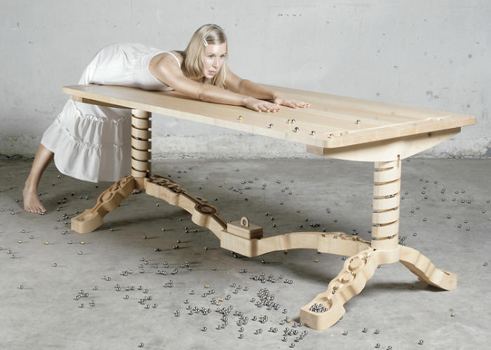 A Dining Table That Doubles As A Marble Run Video  Co -1574