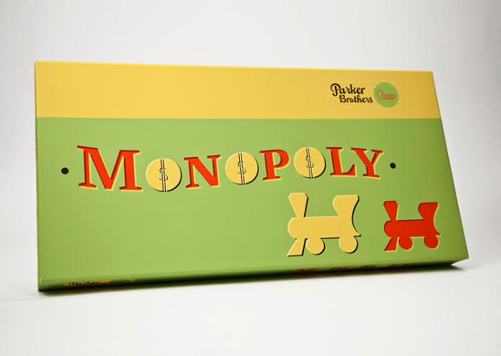 <p>&quot;Monopoly's update was probably the most difficult. The colors and style of the game are so recognizable, that it seemed like a faux-pas to create my own visual language for the redesign. I finally came to the conclusion that to make a successful series, I had to change Monopoly for it to all work. The colors reference the game itself, with its vibrant greens, reds, and yellows, and the typography waves subtly to suggest the shape and dimensionality of paper bills.&quot;</p>