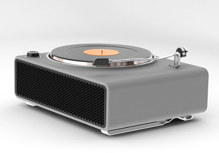 <p>Ahmad Bittar's record player.</p>