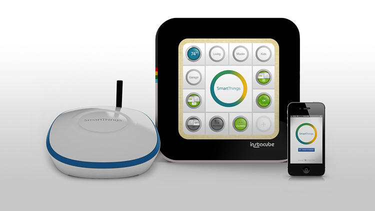 <p>SmartThings is partnering with Instacube, another Kickstarter success, to offer a kind of control panel for the automation.</p>