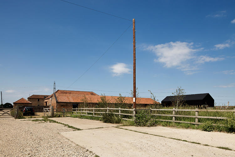 <p>The Ochre Barn's exterior remained intact, complete with weathered red brick walls.</p>