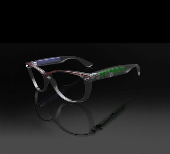 <p>Kickstarter-funded ZionEyez is creating video recording glasses with barely perceptible technology. To hide the guts, the designers are using a manufacturing technique called insert molding that allows them to embed the circuitry directly into the plastic of the eyewear frames.</p>