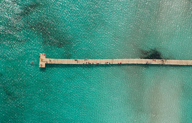 <p>A detail of a shot of a pier.</p>